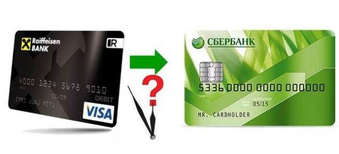 Сколько идет перевод с Райффайзен банка в Сбербанк