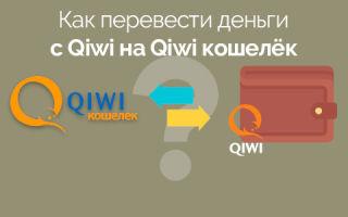 Как перевести деньги с Qiwi на Qiwi