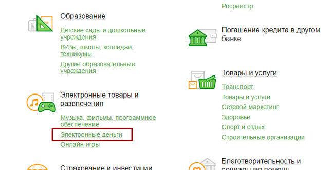 Перевести деньги из Сбербанка Онлайн на электронный кошелек