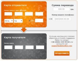 перевод денег УкрСиббанка