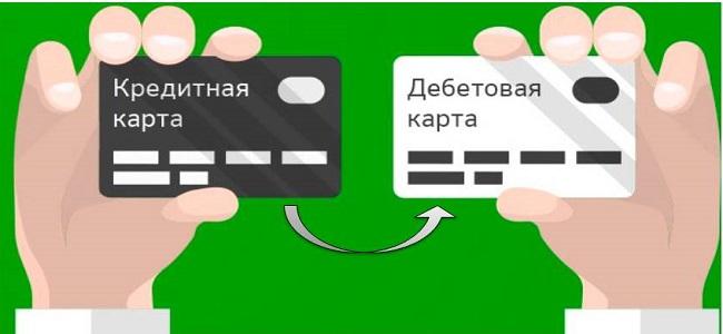 перевод с кредитки на дебетовую карту